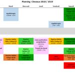 Planning chevaux
